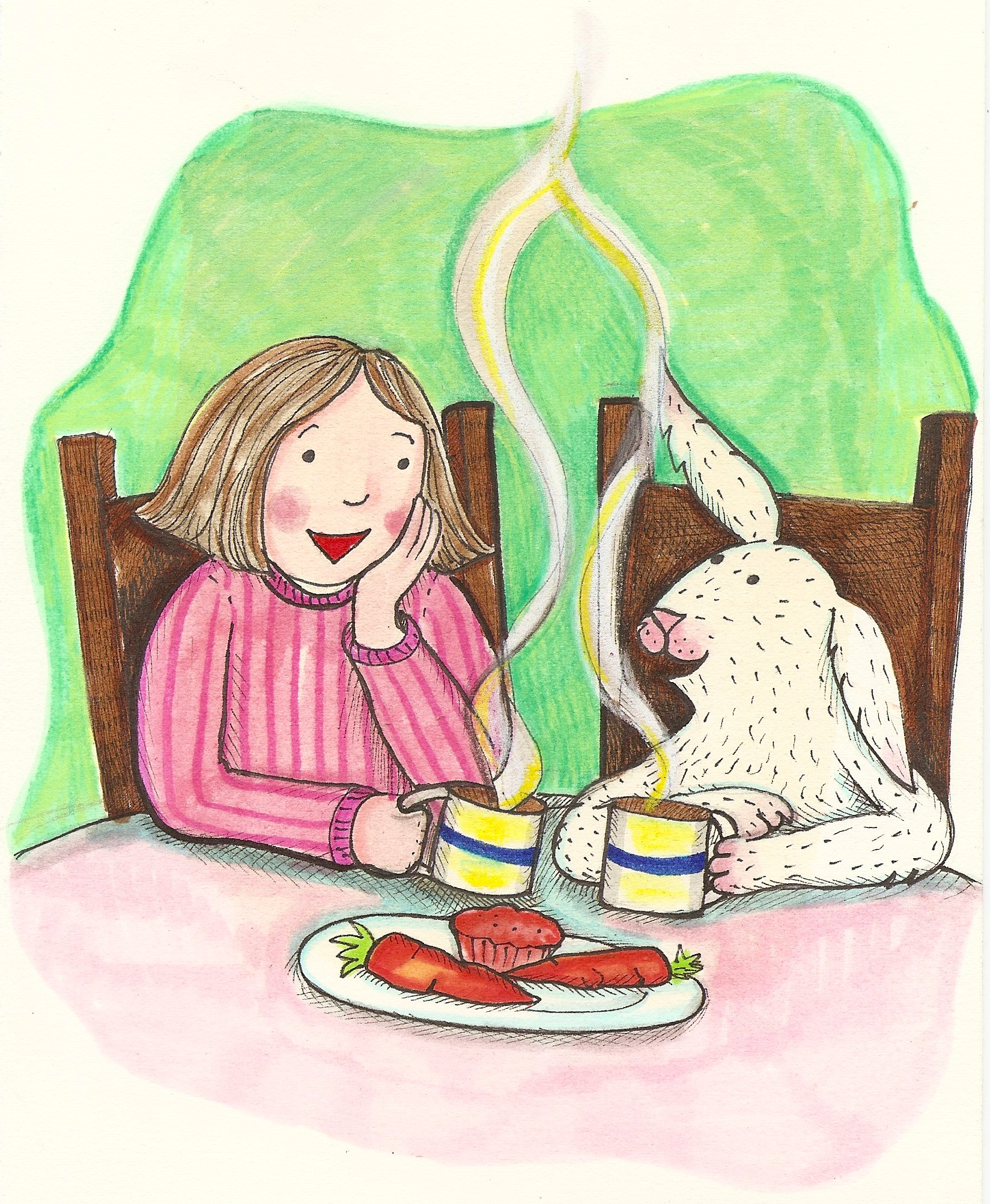 tea with a bunny