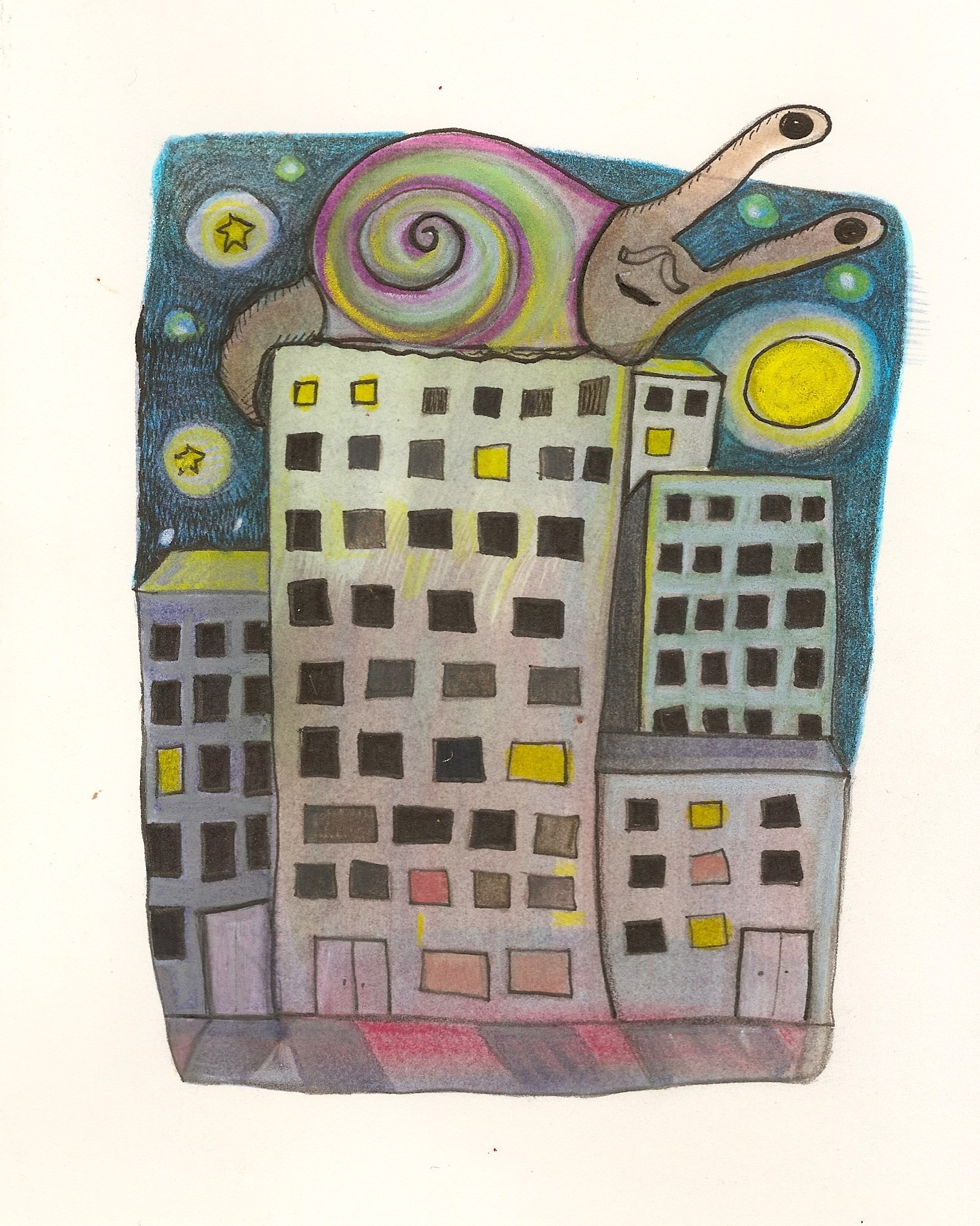 city and snail