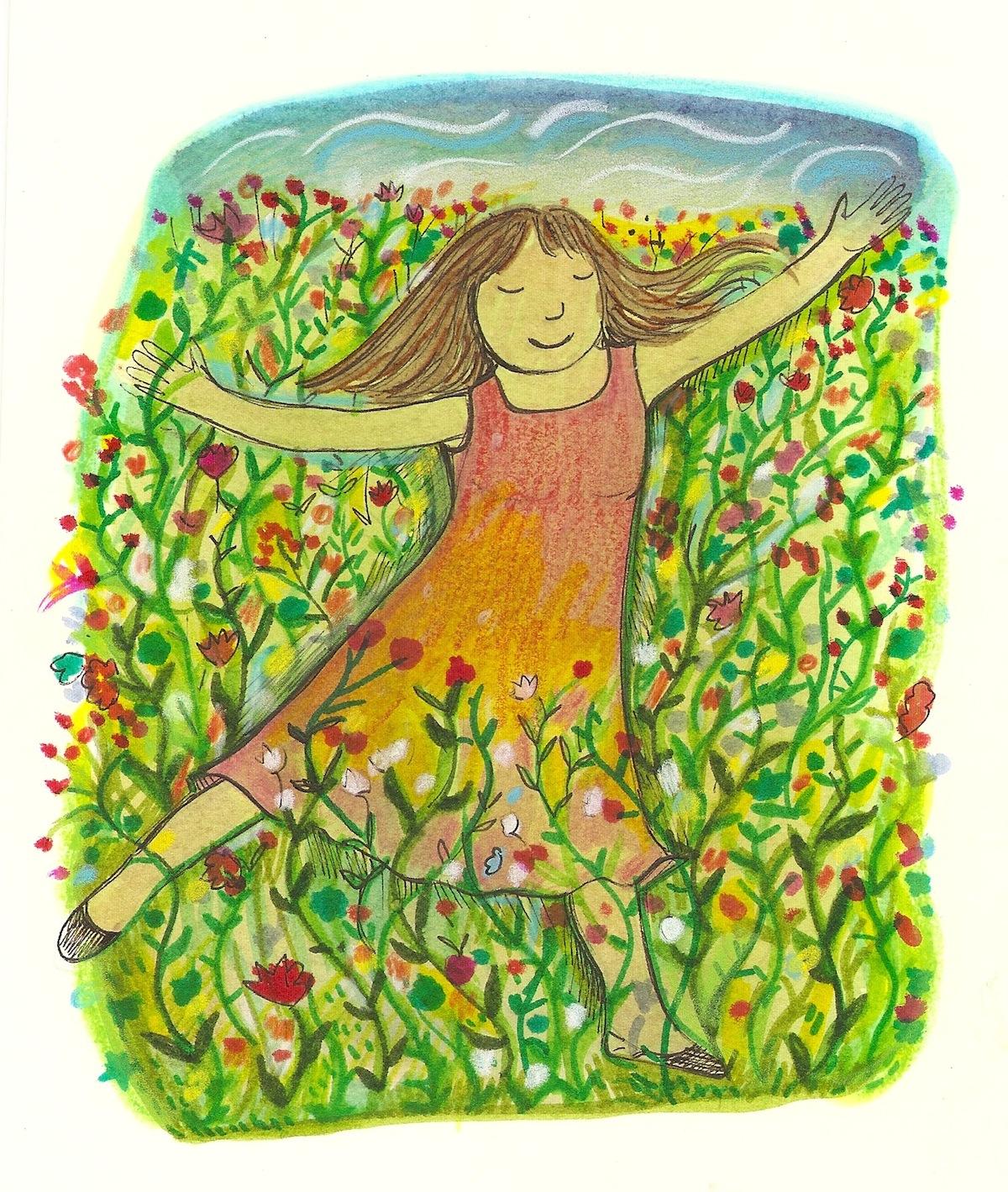 wild flower dancing