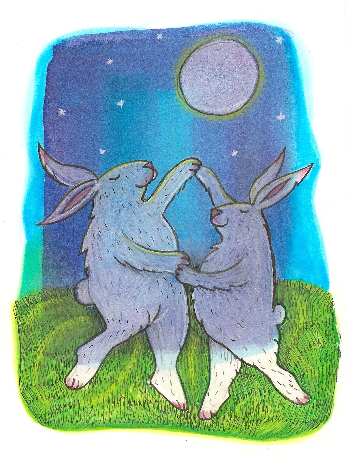 dancing under the full moon